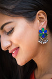 Cute Blue Green Afghani Earrings