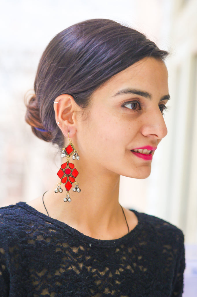 Khairiya Crimson Earrings