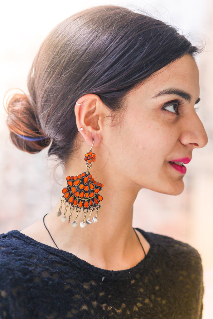 Khayriyyah Tangerine Earrings
