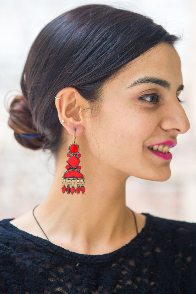 Shirin Red Earrings