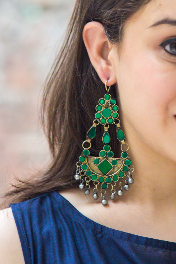 Lamyia Emerald Green Earrings