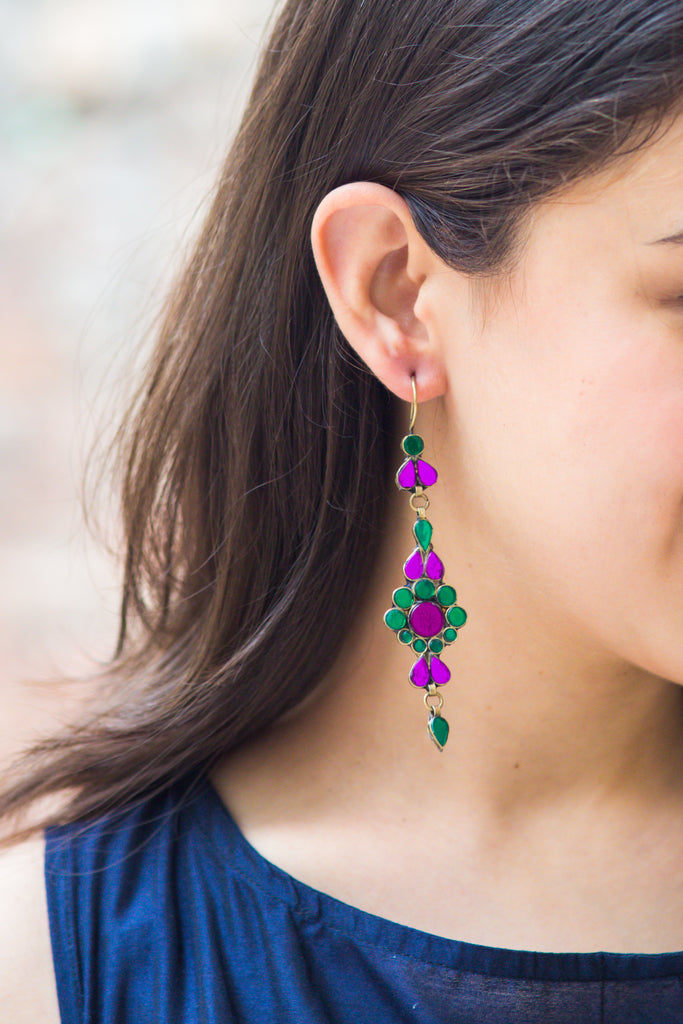 Zeba Lilac Earrings