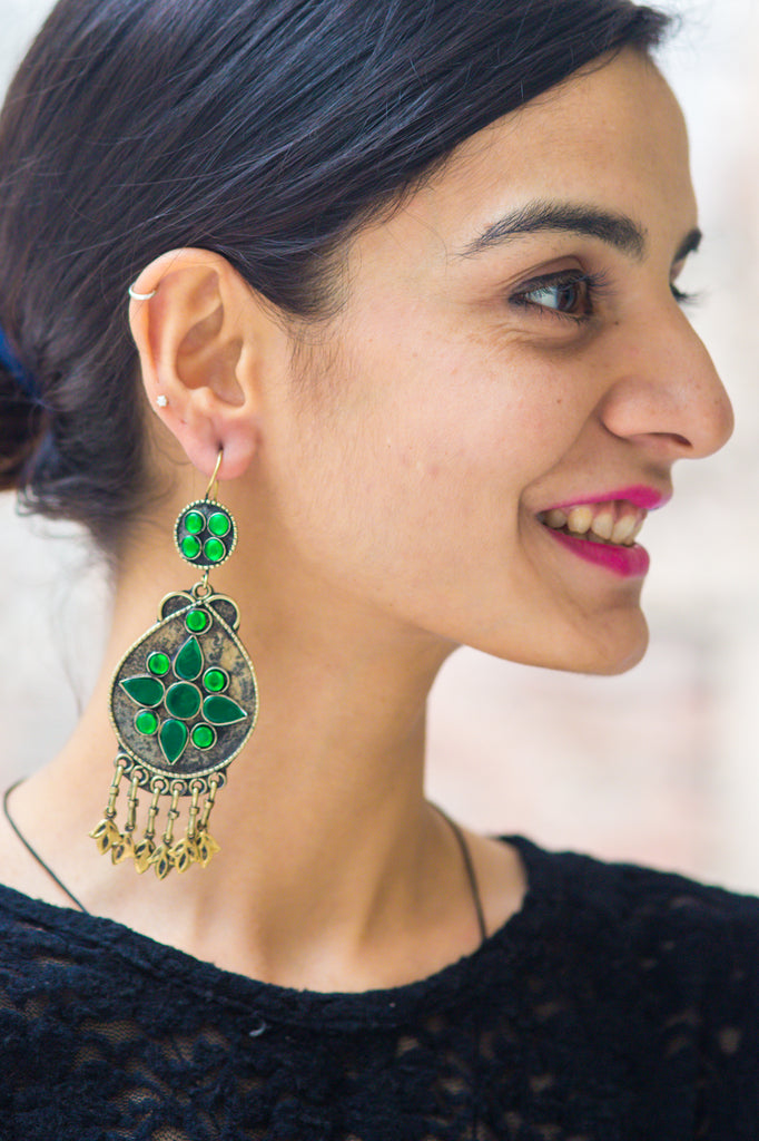 Tamana Green Earrings