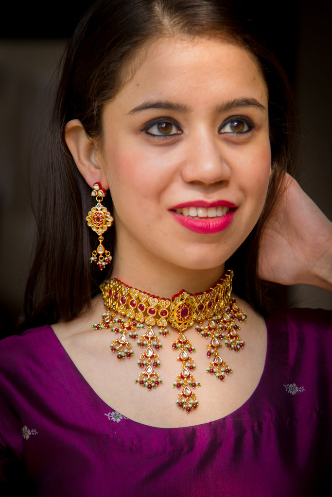 Jodha Kundan Necklace Set