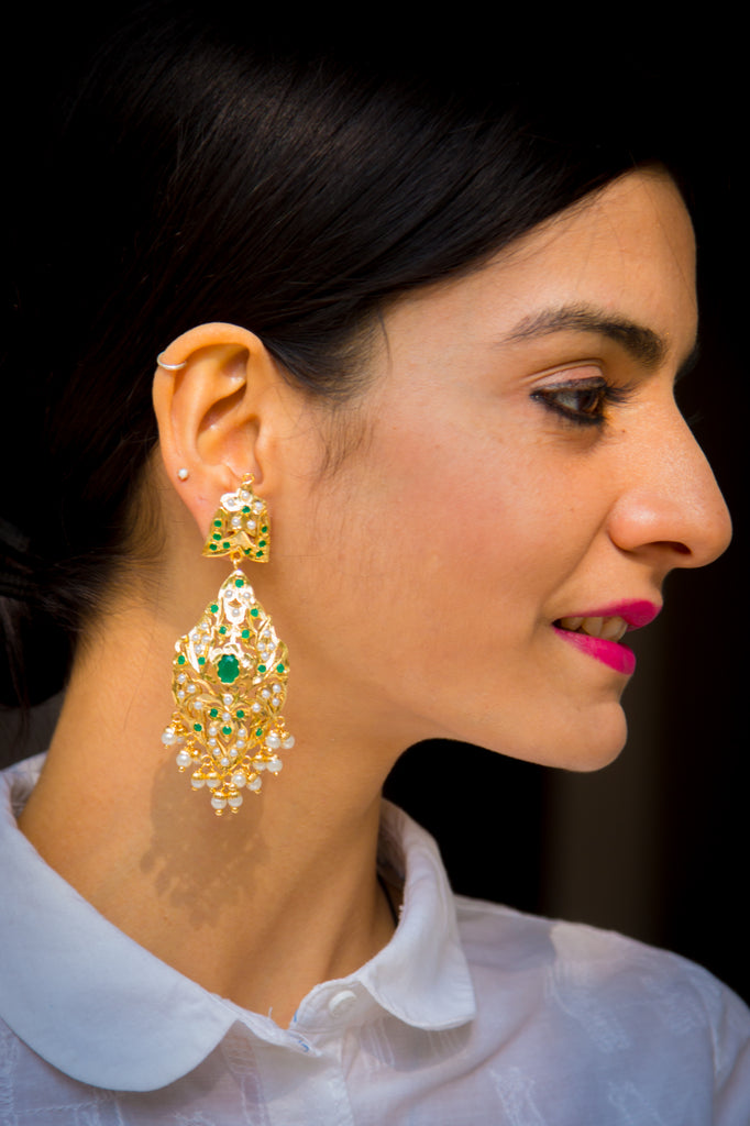 Padma Jadau Earrings