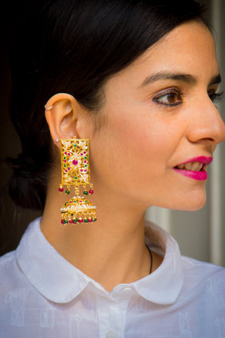 Waheeda Jadau Earrings