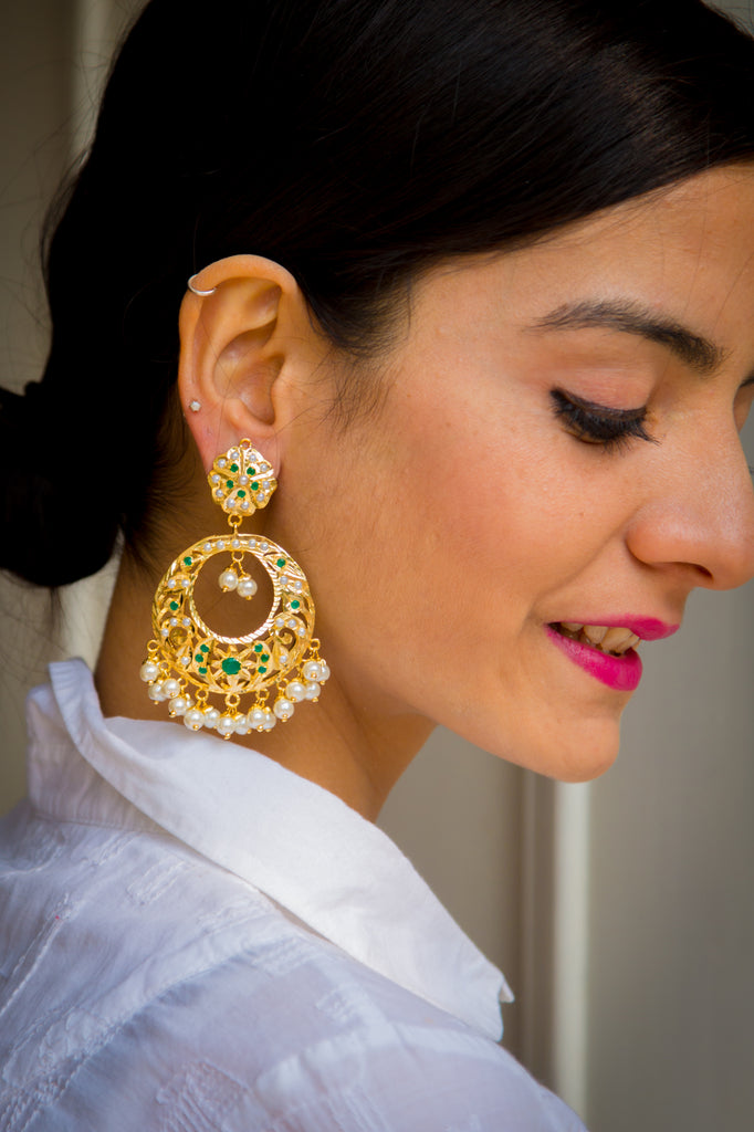 Indhumathi Jadau Earrings