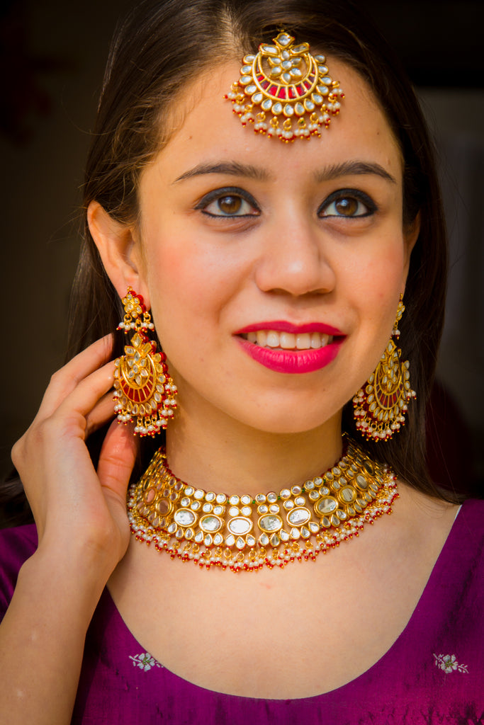 Maryam Kundan Necklace Set