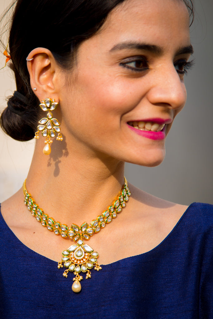 Roopa Kundan Necklace Set