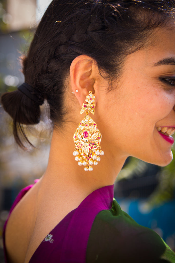 Pranaali Jadau Earrings