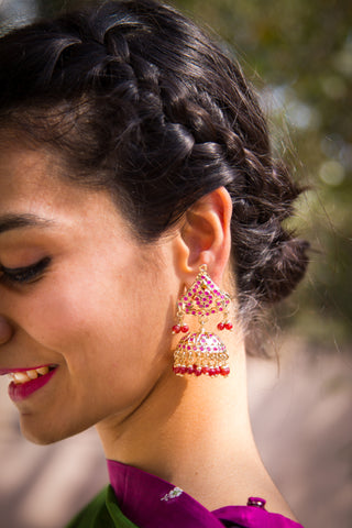 Prabharoopa Jadau Earrings