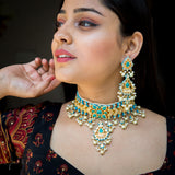 Turquoise Rajwada Necklace Set