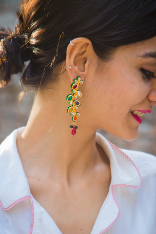 Navratan Earrings