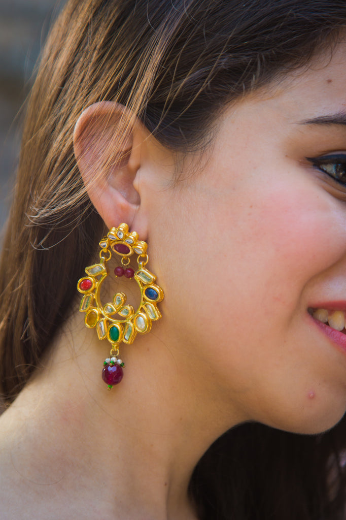 Royal Navratan Earrings