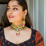 Miha Kundan Necklace Set