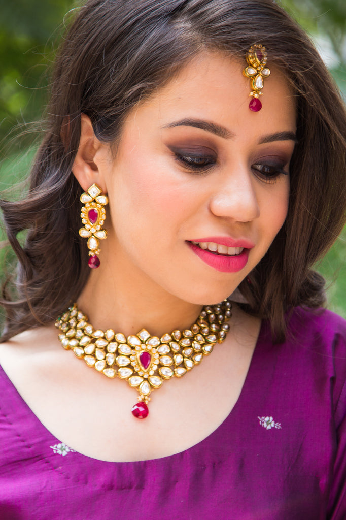 RaniSaa Kundan Necklace Set