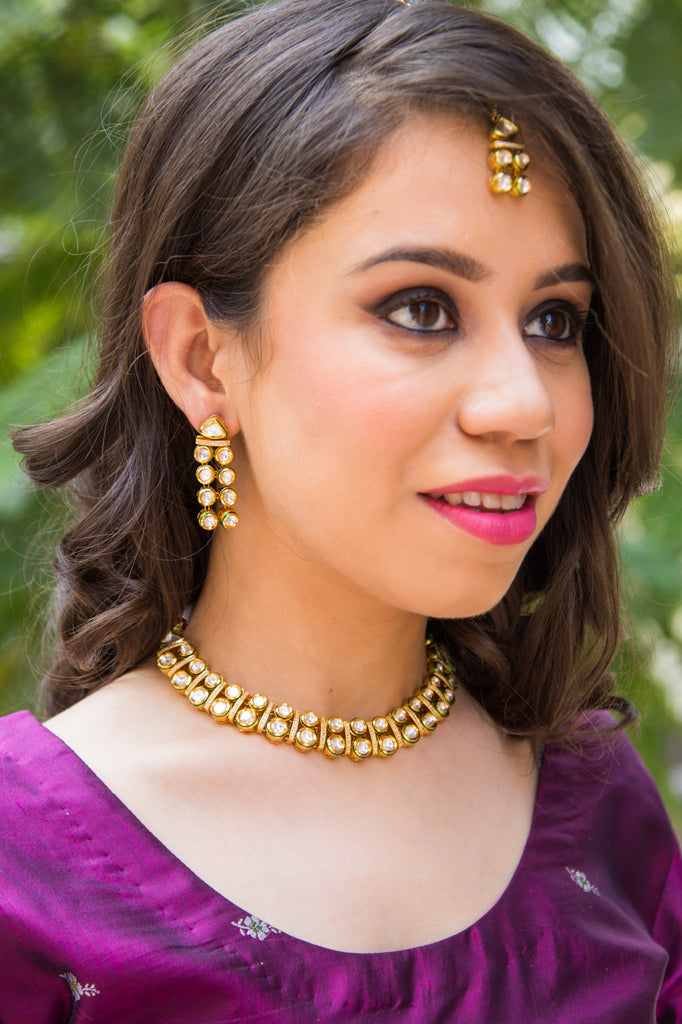 Zerina Kundan Necklace Set
