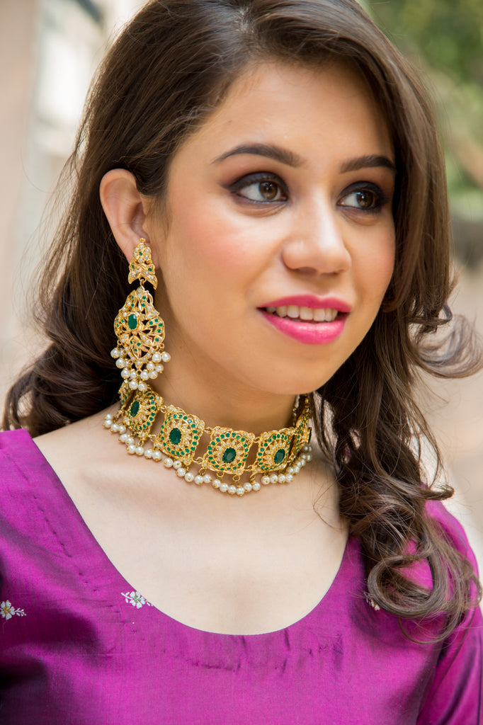 Saadhvi Sadakari Necklace Set