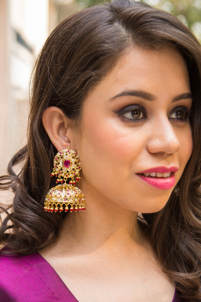 Rajeshri Sadakari Jadau Earrings