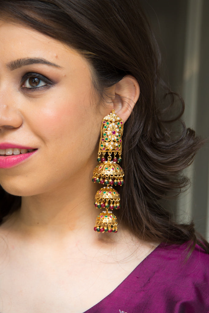 Jadau Chandelier Earrings
