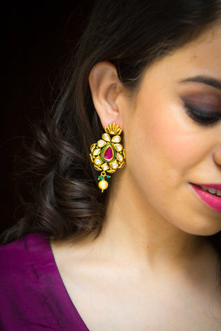 Roopitha Kundan Earrings