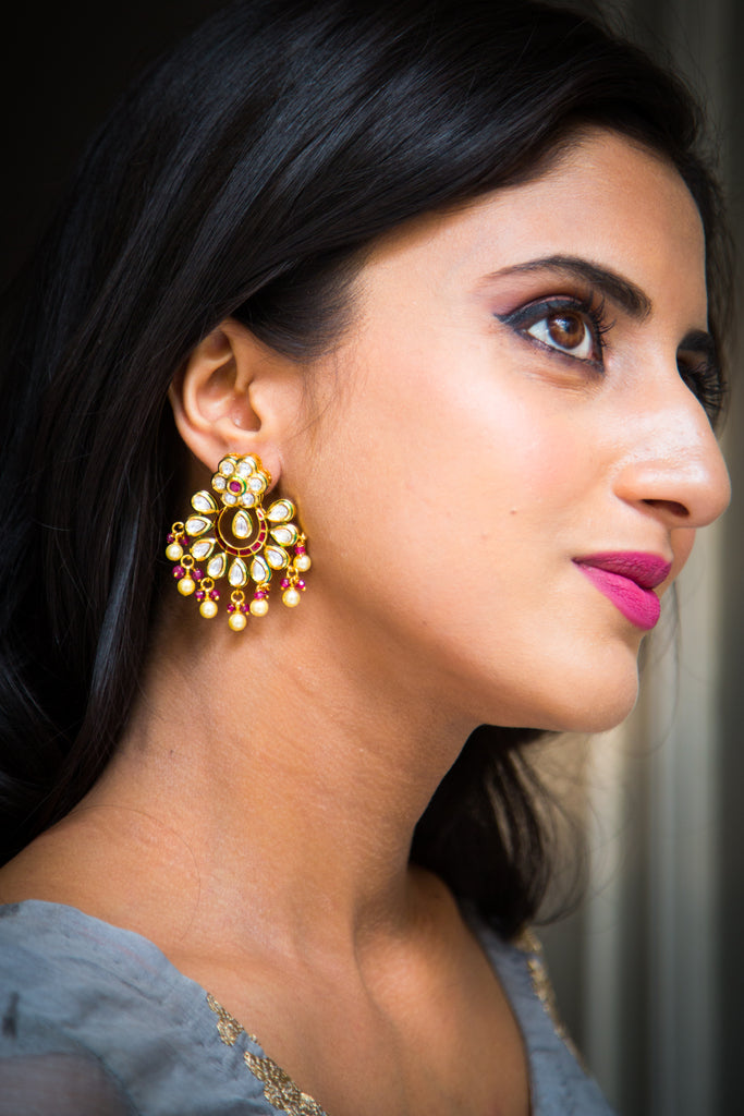 Devangana Kundan Earrings