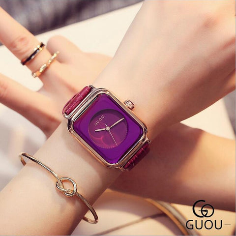 The Shape Of Purple Wrist Watch