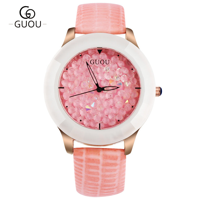 Pink Diamond Wrist Watch