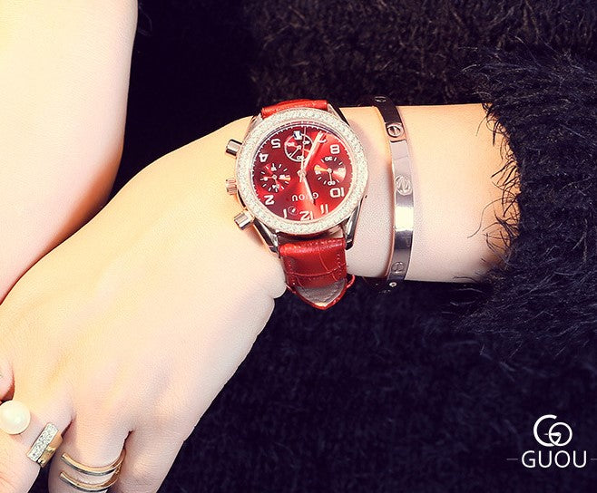 The Red Beauty Women's Wrist Watch