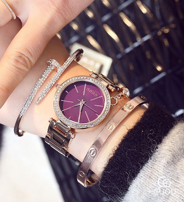 Purple Paradise Diamond Wrist Watch