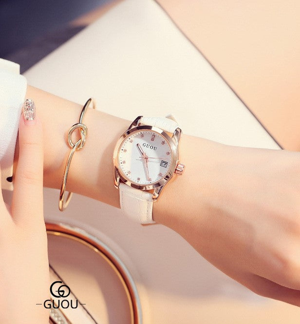 Elegant White Wrist Watch