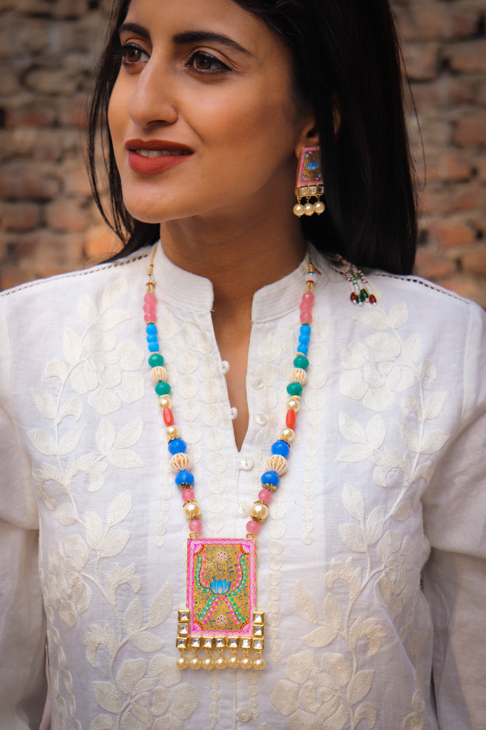 Kamal Kundan Necklace Set