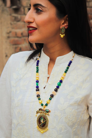 Mor Pankh Necklace Set