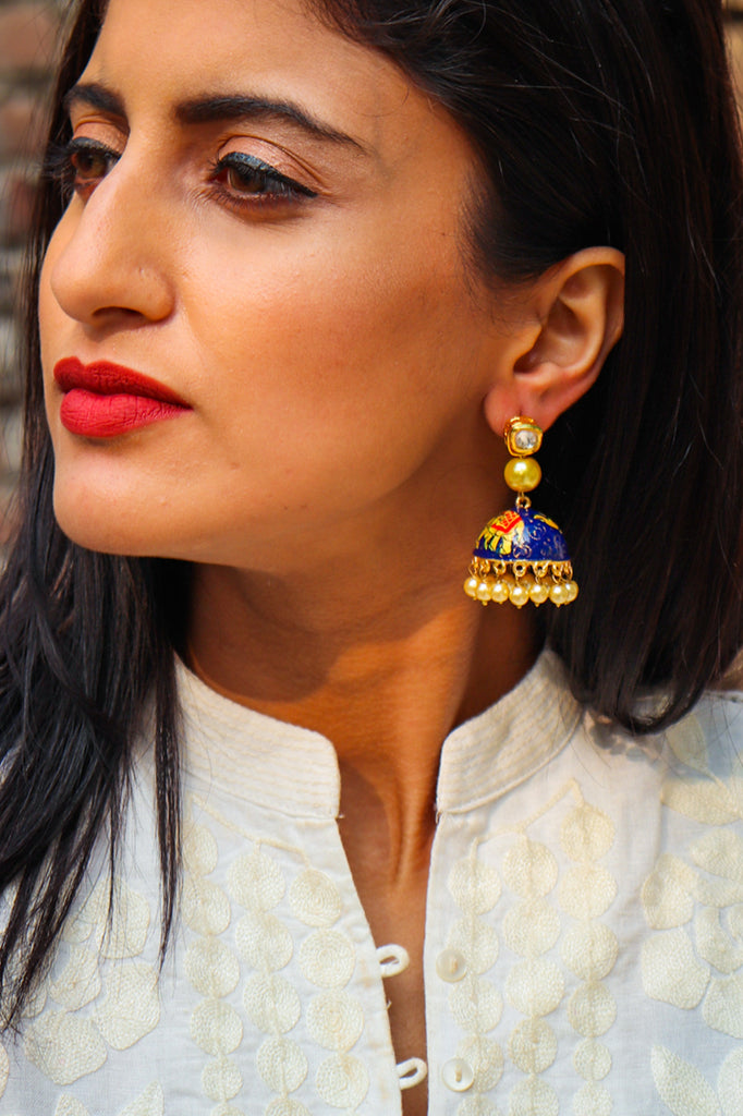Handpainted Gajpati Earrings
