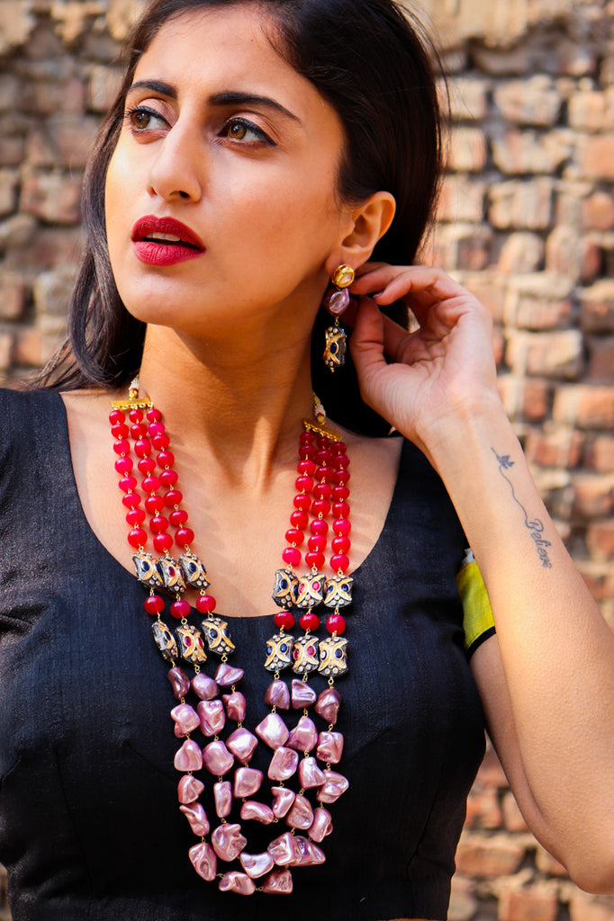 Aesya Stone Statement Necklace Set