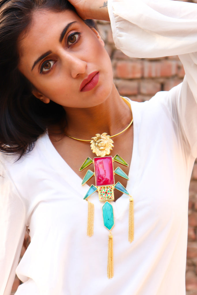 The Power Of Leo Statement Necklace
