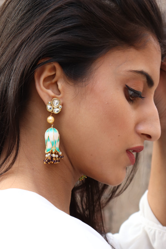 Hand Painted Designer Earrings