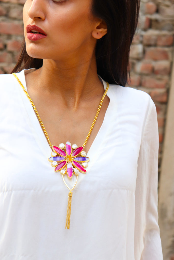 Hexafify Statement Necklace