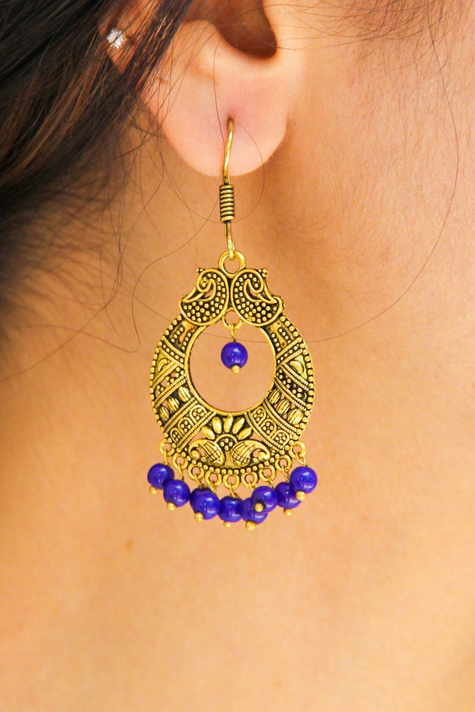 Golden Chaandbaali Earrings