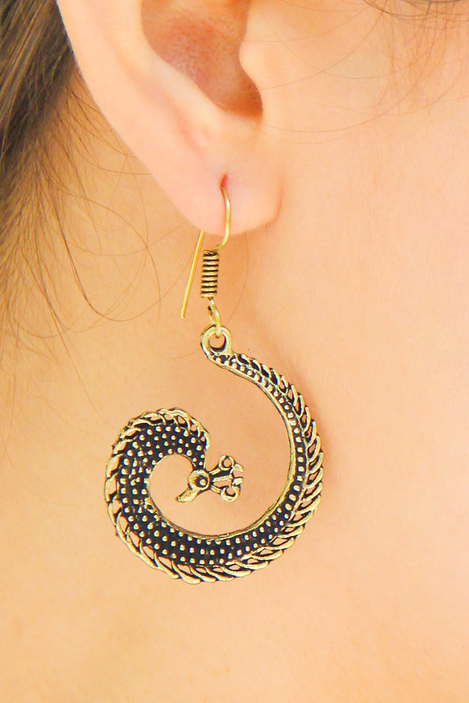 Lazy Peacock Earrings