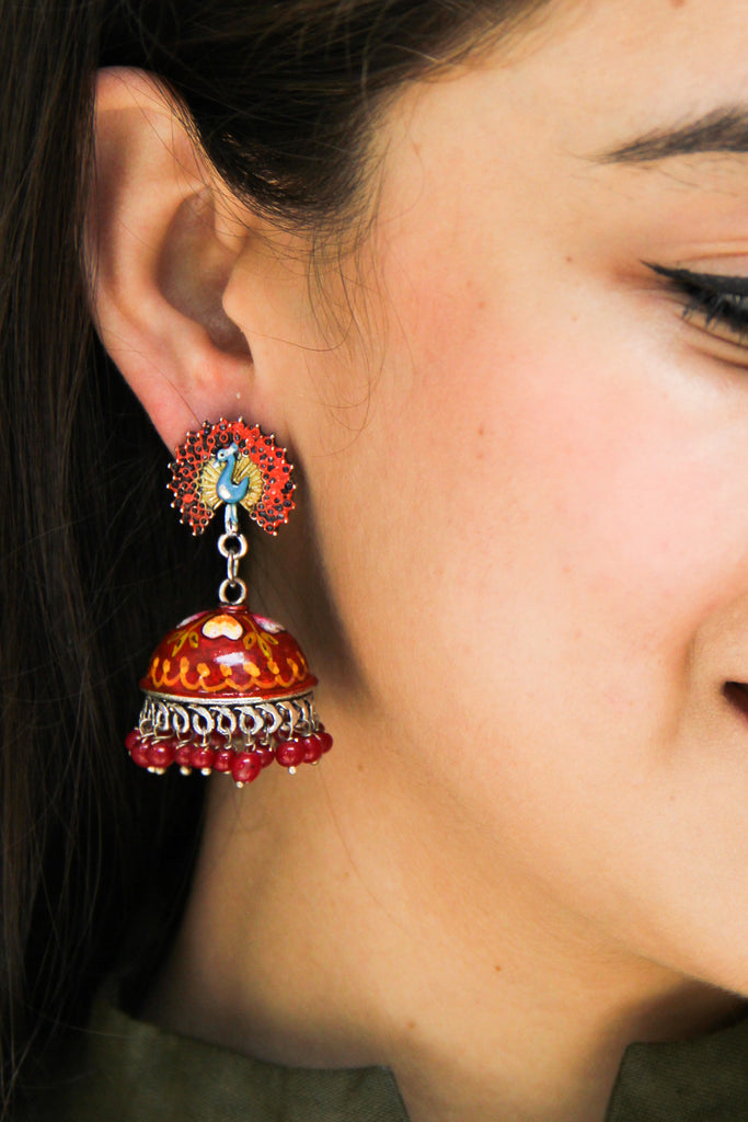 Sundar Peacock Earrings