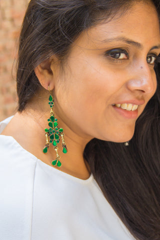 Emerald Green Afghan Danglers