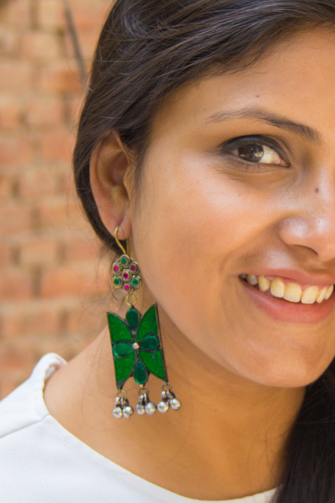 Forest Green Salma Earrings