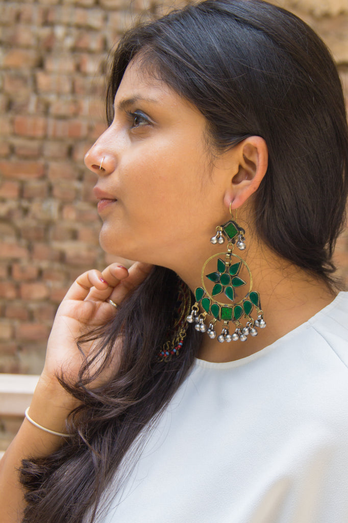 Emerald Green Noor Earrings