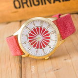 Minimalist Flower Wheel Wrist Watch