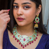 Abhinivesha Kundan Necklace Set