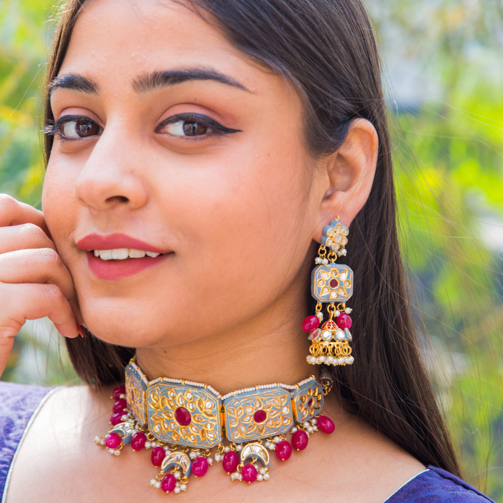 Akshara Kundan Necklace Set