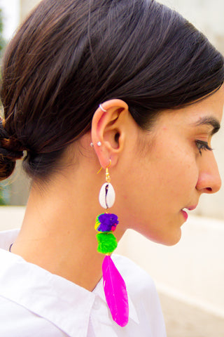 The Shell Leaf Earrings