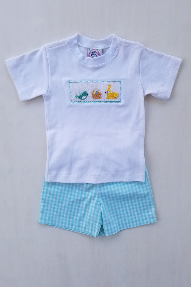 Egg Hunt Boys Shorts Set