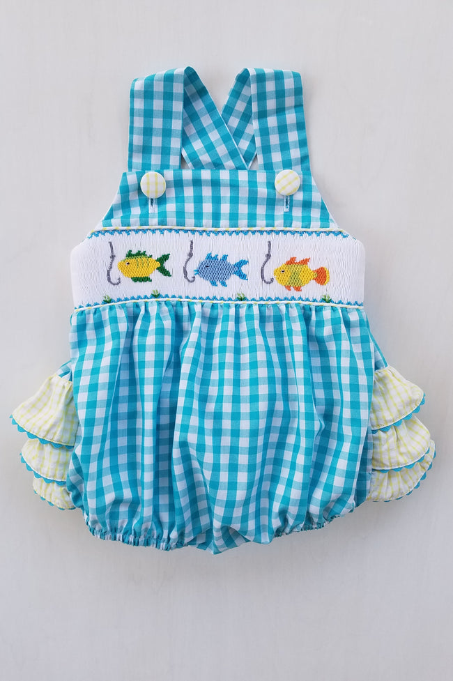 Little Angler Girls Ruffle Bubble